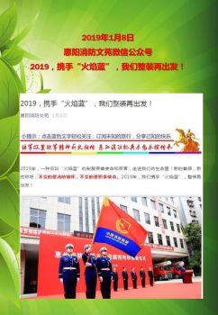 2019年惠阳消防简报册电子画册