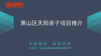萧山区天阳亲子项目推介电子杂志