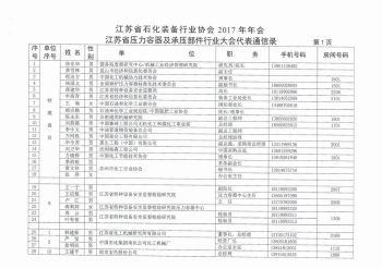 江苏省石化装备行业协会通讯录电子杂志