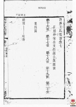 西沙王氏宗谱_ 二十卷,首一卷[江阴]第8册电子书