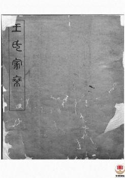 王氏家乘_ 不分卷:[浙江杭州]第1册电子书