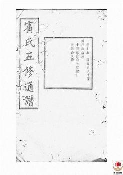 宾氏五修通谱_ 五十卷:[衡阳]-第12册电子书