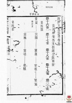 西沙王氏宗谱_ 二十卷,首一卷[江阴]第6册电子书