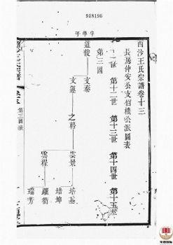 西沙王氏宗谱_ 二十卷,首一卷[江阴]第13册电子书