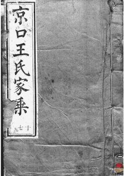 京口顺江洲王氏第十二次增修家乘_ 二十四卷:[丹徒]第16册电子书