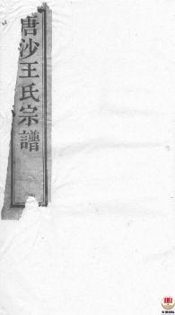 唐沙王氏宗谱_ 十二卷:[江阴]第1册电子书