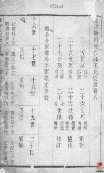 唐沙王氏宗谱_ 十二卷:[江阴]第9册电子书