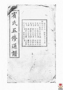 宾氏五修通谱_ 五十卷:[衡阳]-第24册电子书