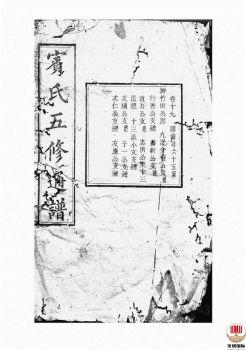 宾氏五修通谱_ 五十卷:[衡阳]-第15册电子书