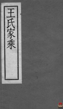 澄南王氏家乘_ 四卷:[江阴]第3册电子书
