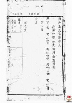 西沙王氏宗谱_ 二十卷,首一卷[江阴]第9册电子书