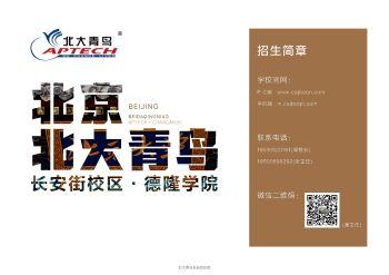 北大青鸟长安街校区·德隆学院2020年招生简章,FLASH/HTML5电子杂志阅读发布