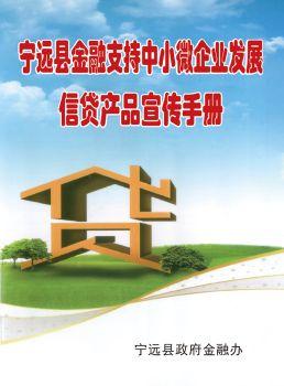 宁远县金融支持中小微企业发展信贷产品宣传手册