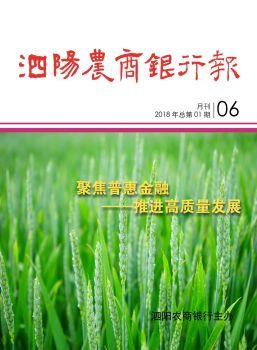 《泗阳农商银行报》第三版(2018.07)宣传画册