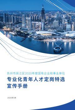 吴江区2020年度国有企业和事业单位专业化青年人才定岗特选电子杂志