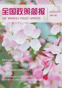 全国政策简报(2020年03月刊) 电子书制作软件