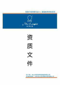 光先生资质蓝光灯管文件电子画册