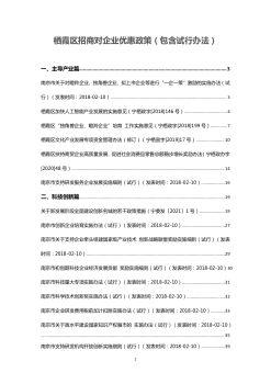 栖霞区招商对企业优惠政策(包含试行办法)电子刊物