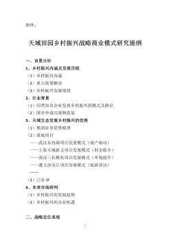 天域田园乡村振兴战略商业开发提纲129电子书
