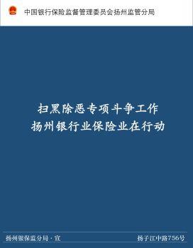 扬州银保监分局深入推进扫黑除恶专项斗争工作 电子书制作平台