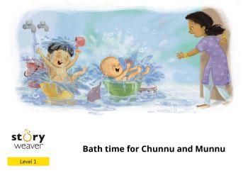 Bath time for Chunnu and Munnu宣传画册