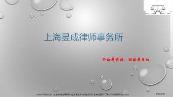 上海昱成律师事务所简介宣传画册