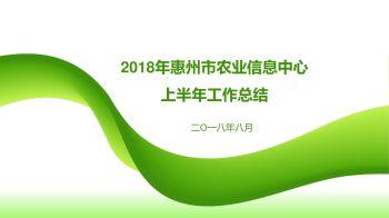 2018年惠州市农业信息中心上半年工作总结电子宣传册