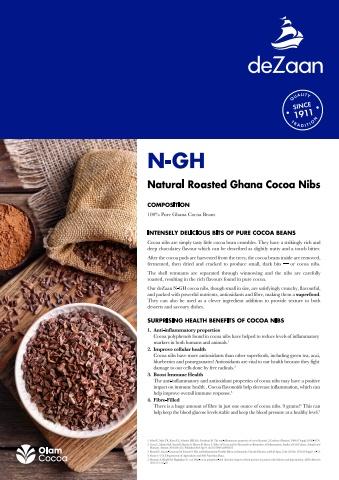 Natural Ghana Cocoa Nibs Brochure電子宣傳冊