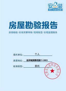 远洋城滨雅花园勘验报告11-3003 电子书制作平台