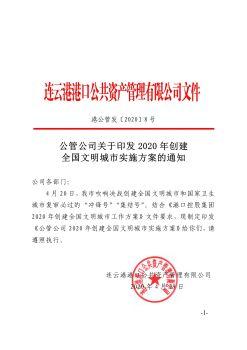 港公管发〔2020〕8号 创文方案