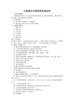 民宿酒店内部管理系统说明电子宣传册
