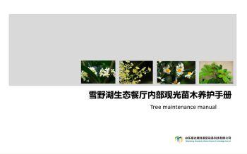 雪野湖生态餐厅内部植物养护手册,电子书免费制作 免费阅读