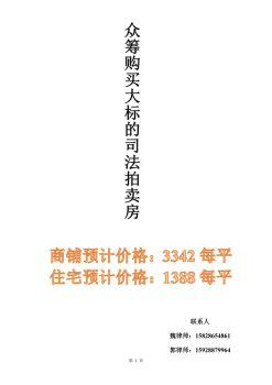 众筹购买司法拍卖5折房产宣传画册
