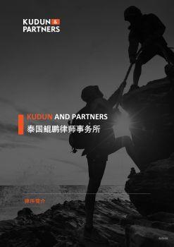 Kudun and Partners 律所简介宣传画册