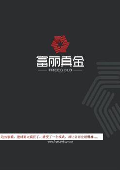 富丽真金招商宣传稿宣传画册
