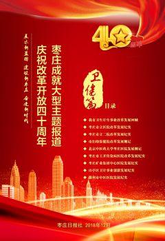 庆祝改革开放40周年枣庄成就大型主题报道(卫健篇) 电子书制作软件