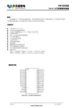 VK1056B 液晶LCD显示驱动IC/14x4com工作电压2.4-5.2V稳定测试电子书