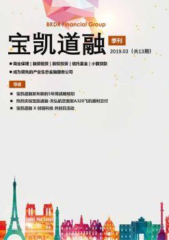 宝凯道融季刊1903期 电子书制作平台