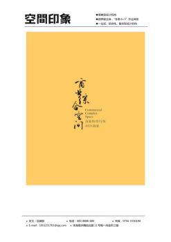 空间印象十年专题——商业街步行街社区商业设计成功案例集锦画册
