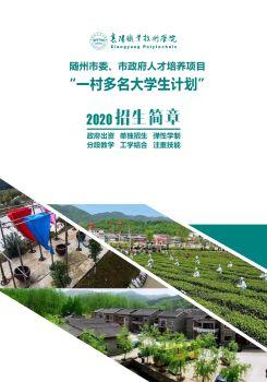 襄职职业技术学院2020年一村多名大学生招生简章(随州市版)电子宣传册