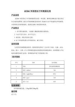 JZ204 环保型水下环氧固化剂电子宣传册