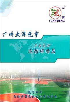 硅PU球场丙烯酸球场材质——大洋元亨电子宣传册