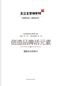王立王营销策划2019宣传册第1期,电子期刊,在线报刊阅读发布