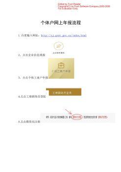 个体户网上年报流程1电子画册