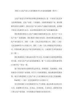 国匠大文化产业七大业务板块齐头并进发展战略(2)电子杂志