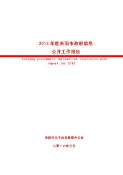 耒阳市2015年政府信息公开年度报告电子杂志