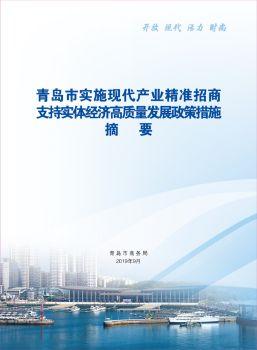 3.青岛市市级招商政策汇编 电子书制作软件