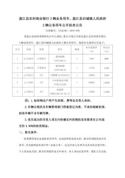 盈江县农村商业银行3辆业务用车、盈江县旧城镇人民政府2辆公务用车公开拍卖公告电子画册