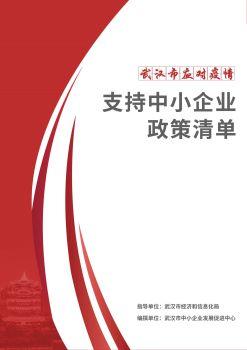 武汉市应对疫情支持中小企业政策清单 电子书制作软件