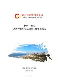 烟台开发区2019年政府信息公开工作年度报告(1)电子宣传册